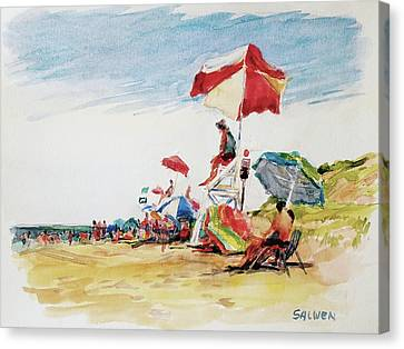 Head  Of The Meadow Beach, Afternoon Canvas Print by Peter Salwen