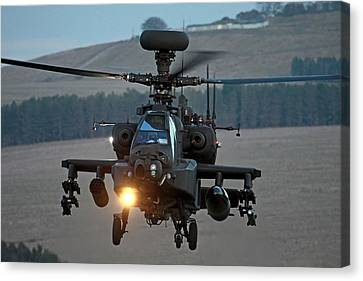 Head On Ah64 Apache Canvas Print
