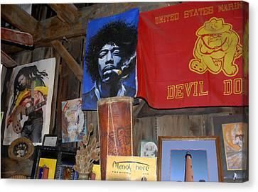 Jimmy Hendrix Canvas Print - Head Shop by David Lee Thompson