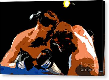 Head To Head Canvas Print by David Lee Thompson
