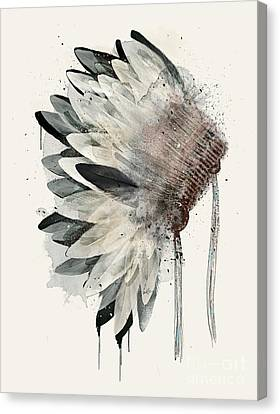 Canvas Print featuring the painting Headdress by Bri B