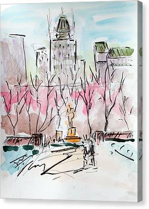 Heading Back To The Plaza Canvas Print by Chris Coyne