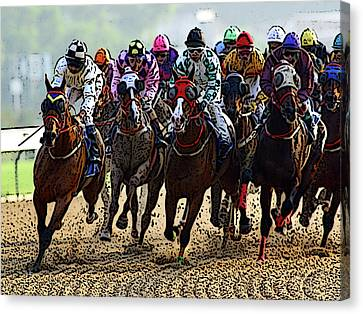 Heading For Thefinish Line Canvas Print