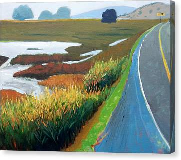 Canvas Print featuring the painting Heading North by Gary Coleman