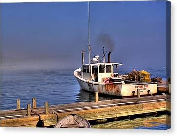Canvas Print featuring the photograph Heading Out To Sea by Greg DeBeck