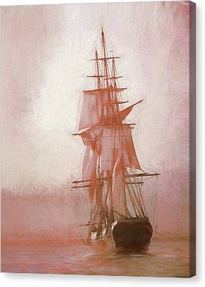 Canvas Print featuring the photograph Heading To Salem From The Sea by Jeff Folger