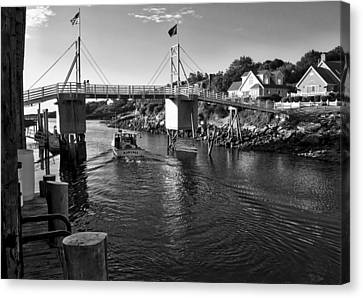 Heading To Sea - Perkins Cove - Maine Canvas Print by Steven Ralser