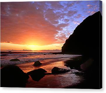 Headlands At Sunset Canvas Print