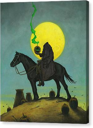 Headless Horseman 2 Canvas Print by Stacy Drum