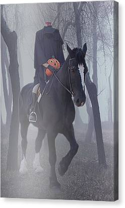 Ghost Story Canvas Print - Headless Horseman by Christine Till