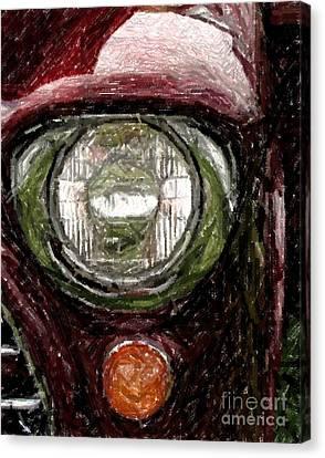 Headlight Canvas Print by Donna Cavanaugh