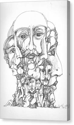 Heads Canvas Print by Padamvir Singh