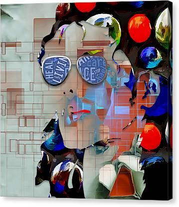 Michael Canvas Print - Heal The World Michael Jackson by Marvin Blaine
