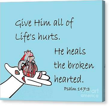 Healer Of Broken Hearts Canvas Print