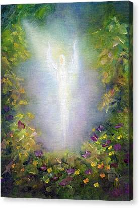 Canvas Print featuring the painting Healing Angel by Marina Petro