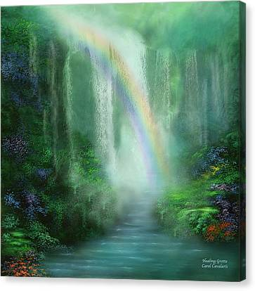 Healing Grotto Canvas Print by Carol Cavalaris