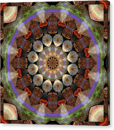 Shower Canvas Print - Healing Mandala 30 by Bell And Todd