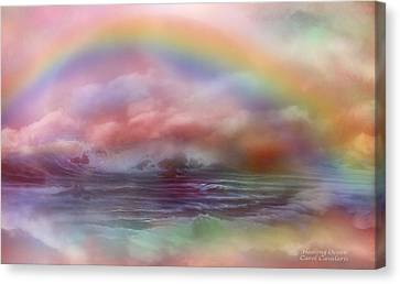Healing Ocean Canvas Print by Carol Cavalaris