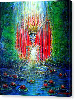 Canvas Print featuring the painting Healing Waters by Heather Calderon