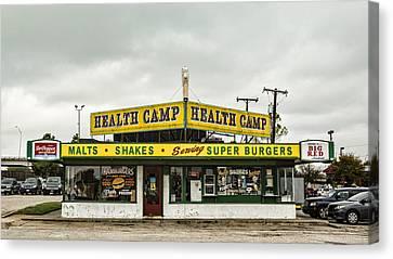 Health Camp Canvas Print by Stephen Stookey