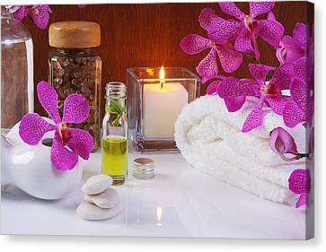 Orchids Canvas Print - Health Spa Concepts  by Atiketta Sangasaeng