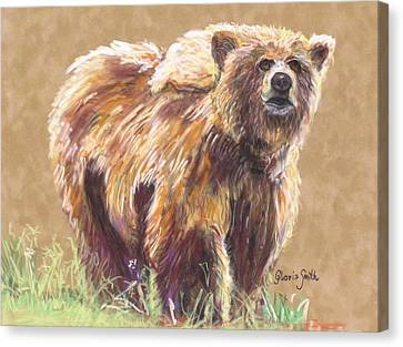 Healthy Brown Bear Canvas Print