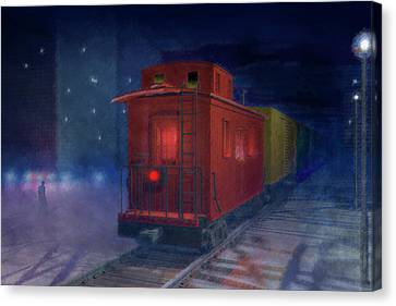 Hear That Lonesome Whistle Canvas Print by Carol and Mike Werner