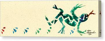 Hear The Lizard Canvas Print by Annie Alexander