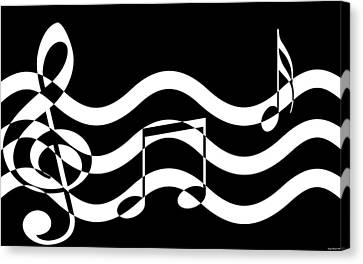 Hear The Music Canvas Print by Evelyn Patrick