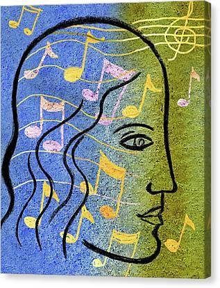 Music Inspired Art Canvas Print - Hearing Music by Leon Zernitsky