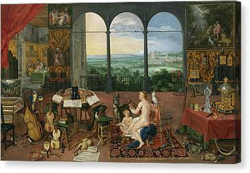 Hearing Canvas Print by Peter Paul Rubens