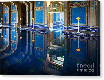 Rich Canvas Print - Hearst Pool by Inge Johnsson