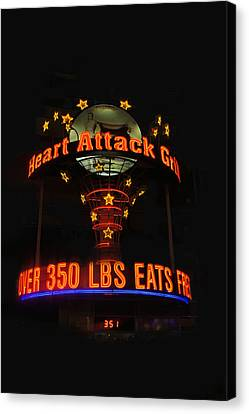 Heart Attack Grill Canvas Print