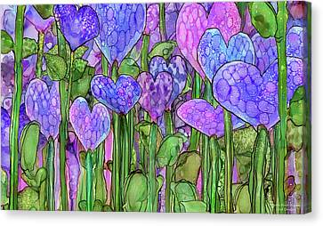 Heart Bloomies 3 - Purple Canvas Print
