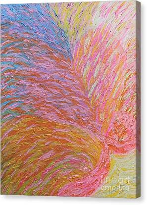 Heart Burst Canvas Print by Rachel Hannah