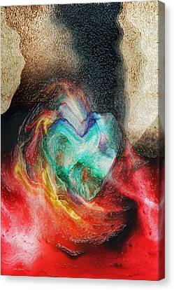 Canvas Print featuring the digital art Heart Deep by Linda Sannuti