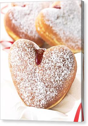 Heart Donuts Canvas Print by Federico Arce