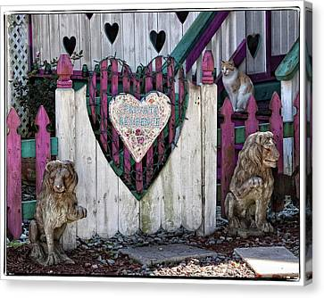 Heart Entrance Gate Canvas Print by Jurgen Lorenzen