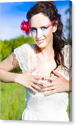 Natural Makeup Canvas Print - Heart Felt Love by Jorgo Photography - Wall Art Gallery