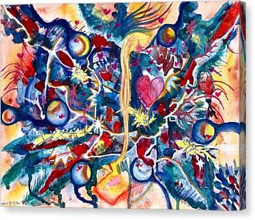 Heart Flow Canvas Print by Lori Miller