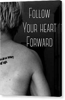 Heart Forward Canvas Print by Sara Young