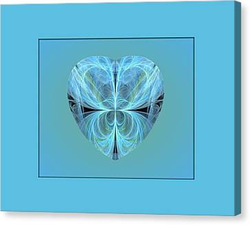 Heart - Ghost Blue Canvas Print by Angie Tirado
