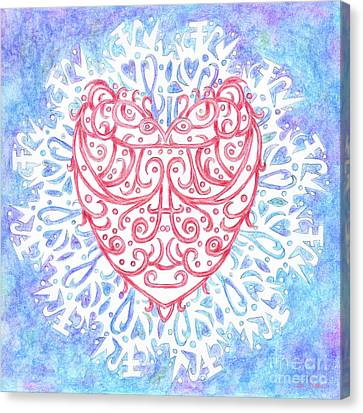Heart In A Snowflake II Canvas Print