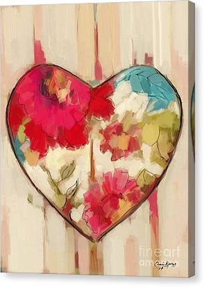 Heart In Stitches Canvas Print