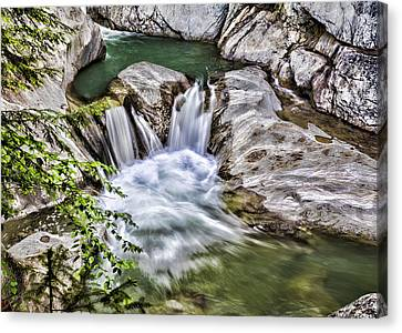 Riverscape Canvas Print - Heart In Turmoil by Stephen Stookey