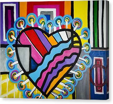 Heart Canvas Print by Jose Rojas