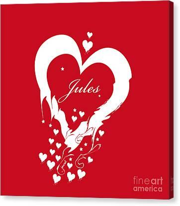 Jules Heart M1 Canvas Print by Johannes Murat