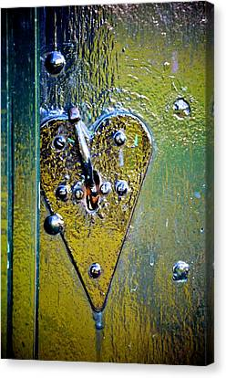 Heart Lock Canvas Print