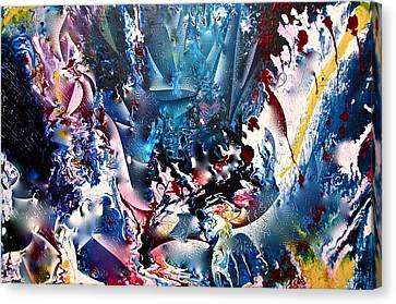 Canvas Print featuring the painting Heart Magic Tour Ride  by Lori Miller