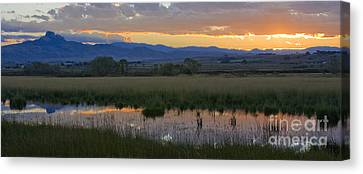 Heart Mountain Sunset Canvas Print by Idaho Scenic Images Linda Lantzy